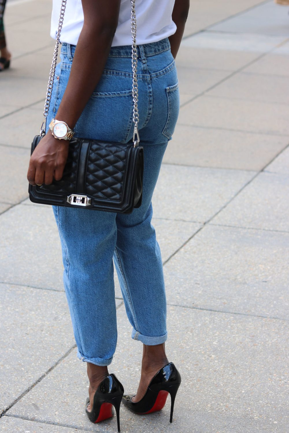 style synopsis-mom-jeans-red-bottoms-style