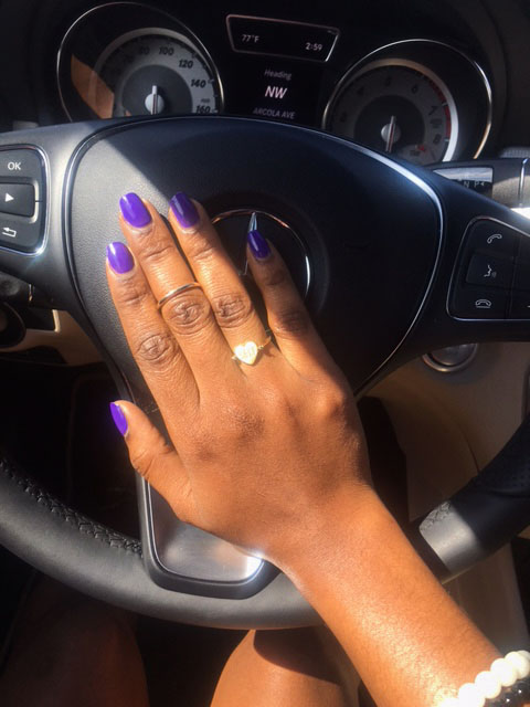 style synopsis purple nails