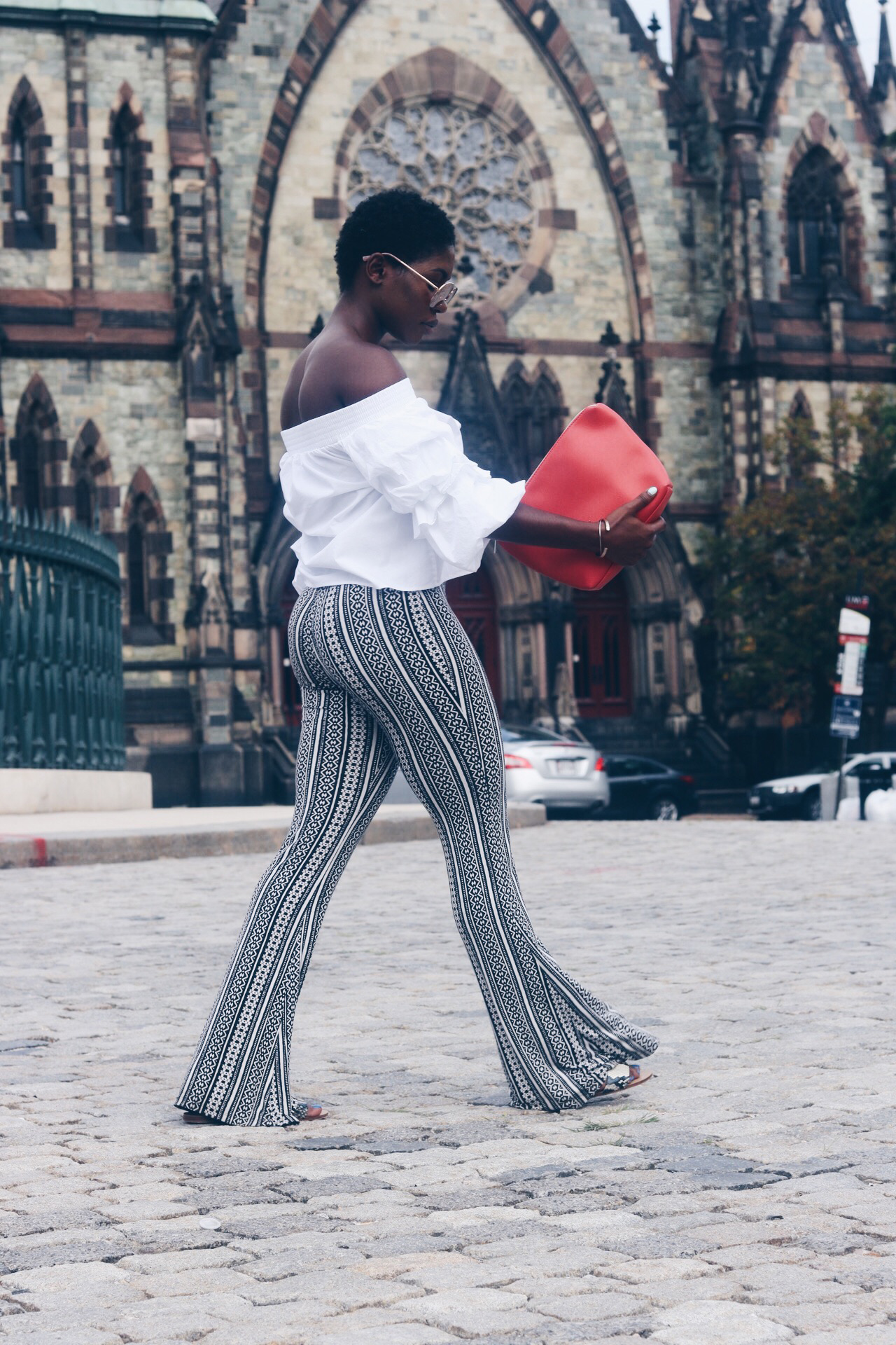style-synopsis-tribal-print-pants-white-off-shoulder-top