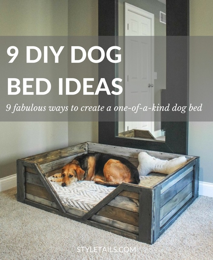 Amazing Diy Dog Bed Part - 12: 9 Fabulous Ways To Create A Modern DIY Dog Bed