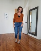 fall 10x10 outfit 4: madewell jeans birkenstock