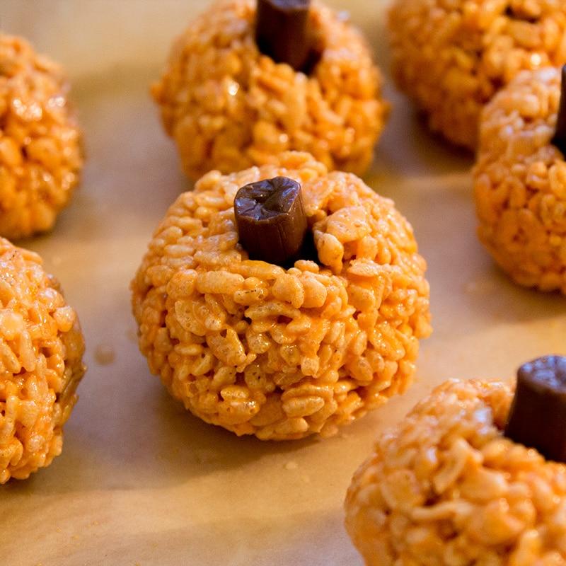 Rice Crispies Pumpkins Halloween Recipe