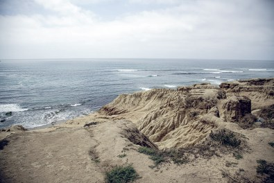 Sunset Cliffs in San Diego are a great spot for photos not only during sunsets but also during the afternoon.