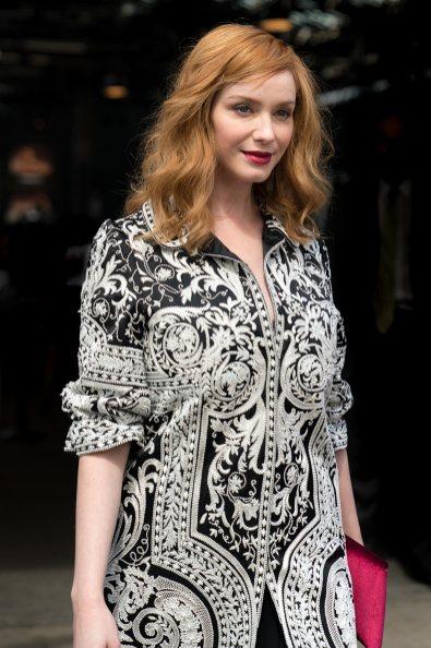 Christina Hendricks at NYFW, Celebrity Street Style