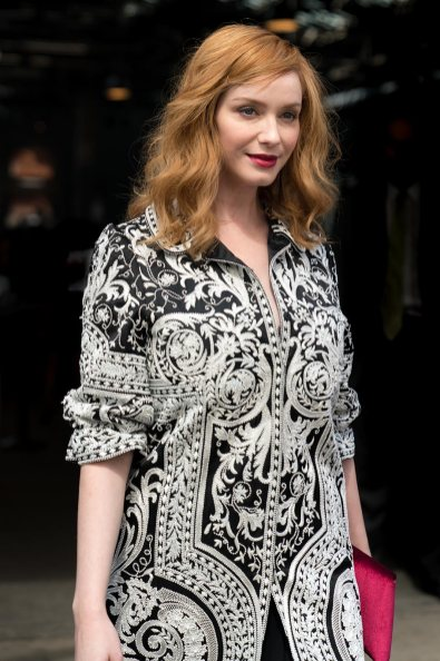 Christina Hendricks at NYFW, Celebrity Street Style