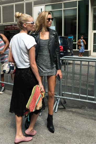 NYFW Street Style September 2016 SS17 Stella Maxwell and Elsa Hosk