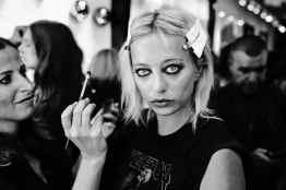 Backstage at Fashion Week: Style Tomes at Rebecca Minkoff, Caroline Vreeland getting makeup done