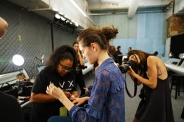 Backstage at Fashion Week with MAC Cosmetics and Tadashi Shoji