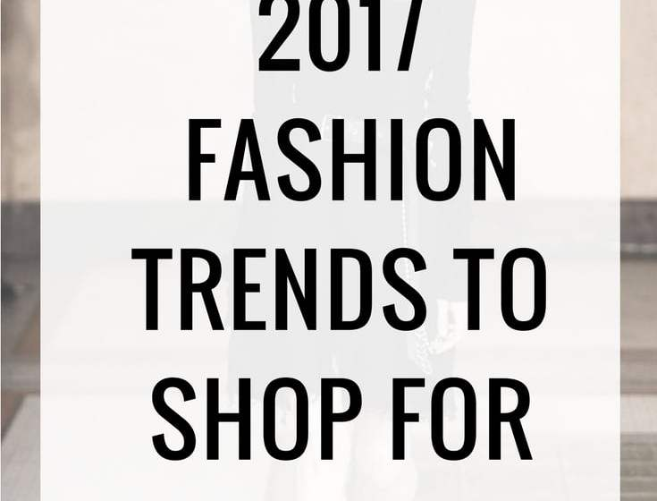 Spring 2017 fashion trends
