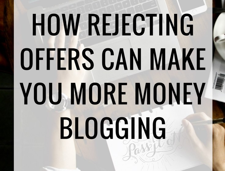 How Saying NO Allowed Me To Make Money Blogging
