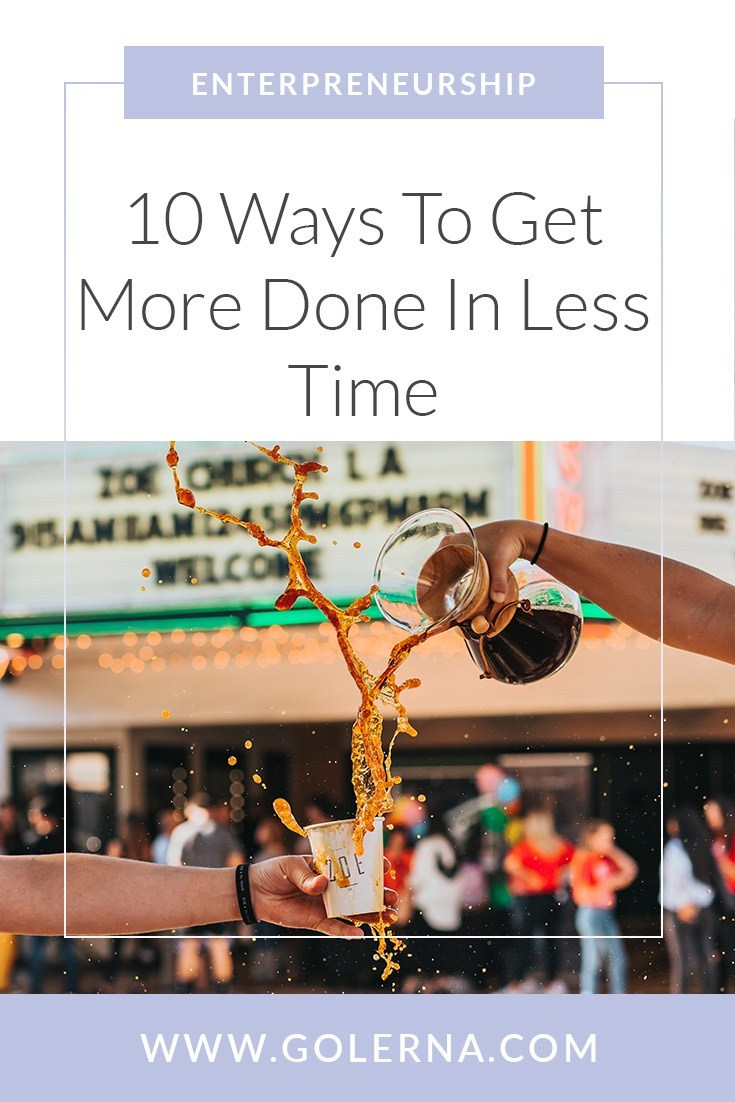 Lerna article link for 10 ways to get more done in less time