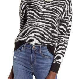 Zebra Stripe Sweater LOVE BY DESIGN