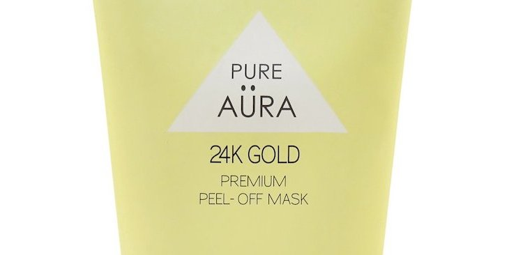 Pure aura 24k gold peel off mask review