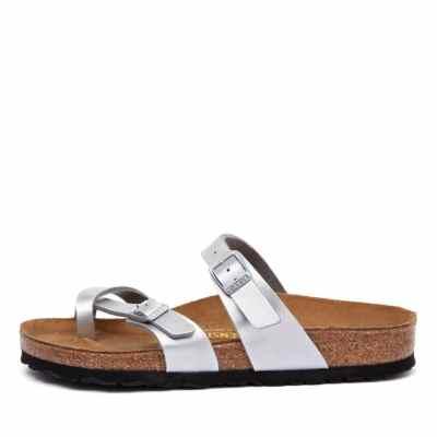 Birkenstock Mayari Silver Sandals Womens Shoes Casual Sandals Flat Sandals