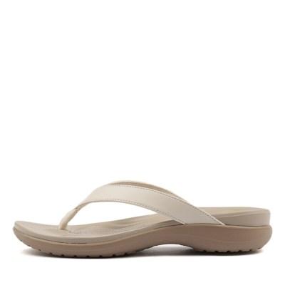 Crocs Capri V Flip Oyster Tumblewe Sandals