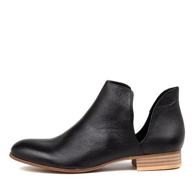 Django & Juliette Fecks Black Natural Heel Boots
