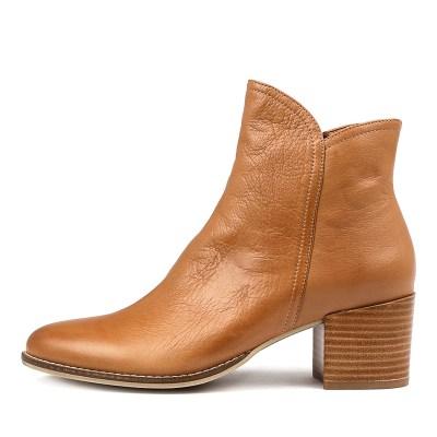 Django & Juliette Mockas Dk Tan Boots Womens Shoes Casual Ankle Boots
