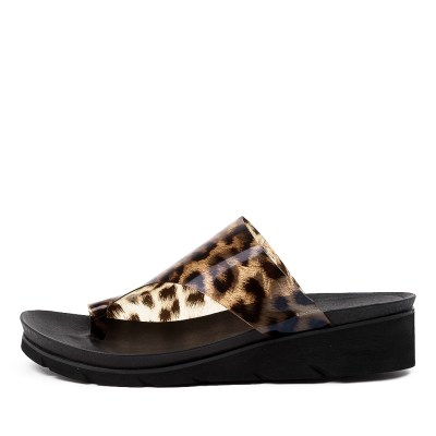 Django & Juliette Laconary Ocelot Sandals