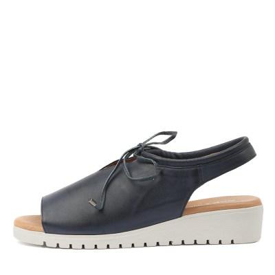 Django & Juliette Monique Navy White Sole Sandals
