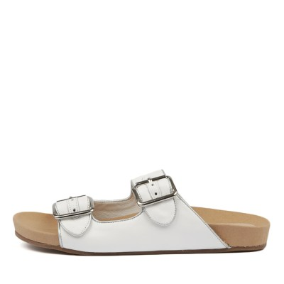 Django & Juliette Nollary White Silver Sandals