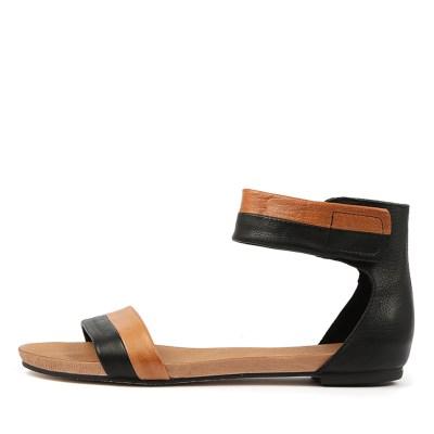 Django & Juliette Jerold Black Tan Sandals