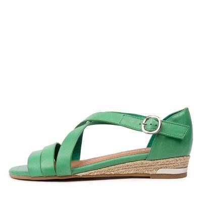 Django & Juliette Candeso Dj Spearmint Sandals Womens Shoes Casual Sandals Flat Sandals