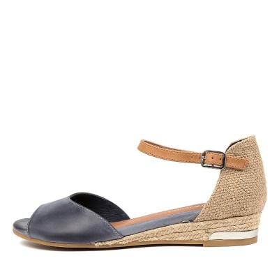 Django & Juliette Cheryls Dj Navy Tan Sandals