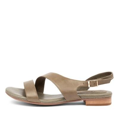 Django & Juliette Porsche Dj Khaki Sandals Womens Shoes Casual Sandals Flat Sandals