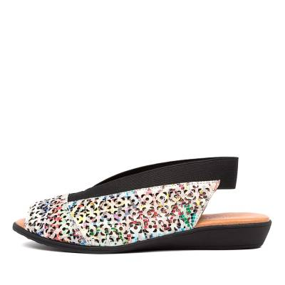 Django & Juliette Rosena Gmdj Bright Aztec Black Sandals
