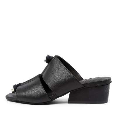 Django & Juliette Tiney Dj Black Black Heel Sandals