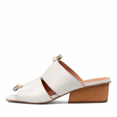 Django & Juliette Tiney Dj White Sandals