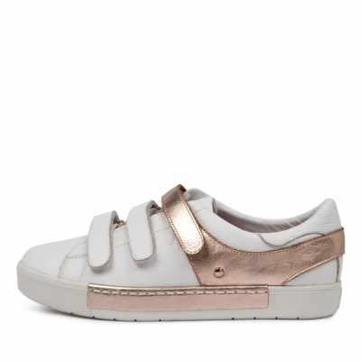 Django & Juliette Valery Dj White Rose Gold Sneakers