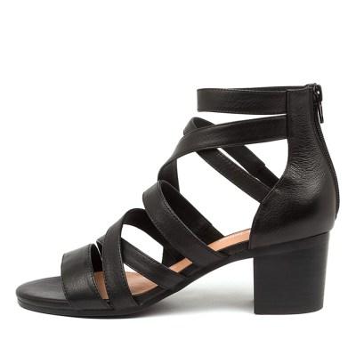 Django & Juliette Birly Dj Black Black Heel Sandals Womens Shoes Casual Heeled Sandals