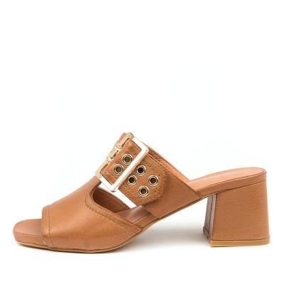 Django & Juliette Marli Dj Dk Tan Sandals Womens Shoes Casual Heeled Sandals