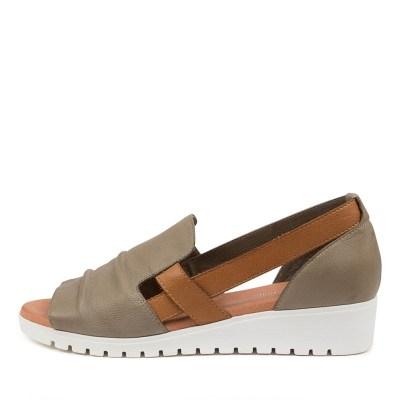 Django & Juliette Mayar Dj Khaki Dk Tan White Sole Sandals Womens Shoes Casual Sandals Flat Sandals