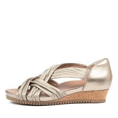 Earth Gemini Ea Wash Gold Sandals