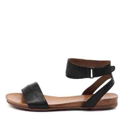 Eos Lauren W Black Sandals