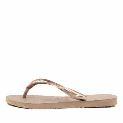 Havaianas Slim Crystal Hv Rose Gold Sandals