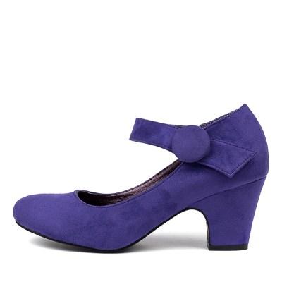 I Love Billy Sharik Purple Shoes