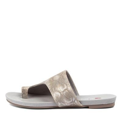 I Love Billy Jonnie Pewter Lizard Sandals