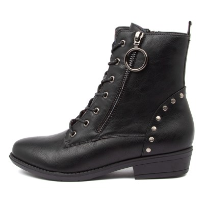 I Love Billy Remedy Il Jet Black Black Sole Boots Womens Shoes Casual Ankle Boots