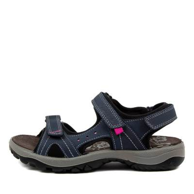 Imac Spa Hessa Im Lt Blue Black Sandals Womens Shoes Sandals Flat Sandals