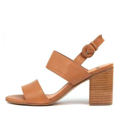 Mollini Ahoma Mo Dk Tan Sandals Womens Shoes Casual Heeled Sandals