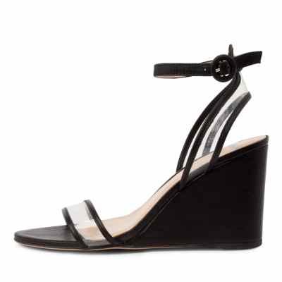Mollini Emmia Mo Black Clear Sandals