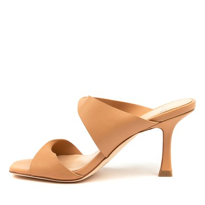 Mollini Bahni Mo Caramel Nude Sandals Womens Shoes Dress Heeled Sandals