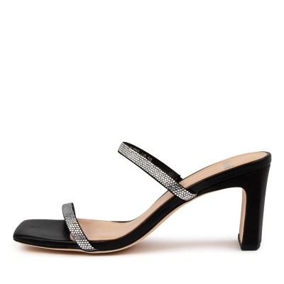 Mollini Flyto Mo Black Sandals Womens Shoes Dress Heeled Sandals