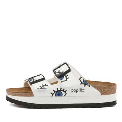 Papillio By Birkenstock Arizona Platform Eyes White Sandals