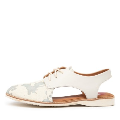 Rollie Slingback Punch Cow Hide Off White Shoes