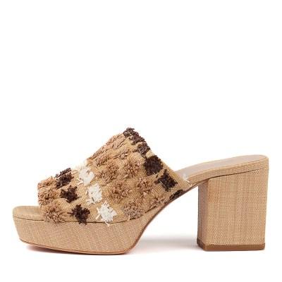 Silent D Kaye Natural Multi Sandals