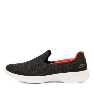 Skechers Go Walk 4 Black Coral Sneakers